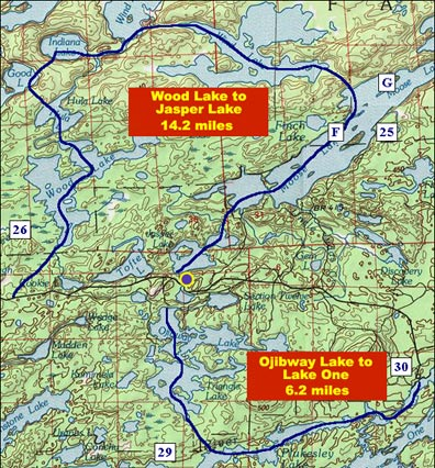 Day-Paddle Canoe Routes