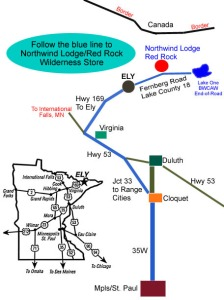 Map to Northwind Lodge