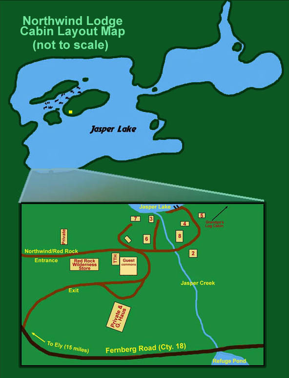 Rental Cabin Layout Ely MN Resort