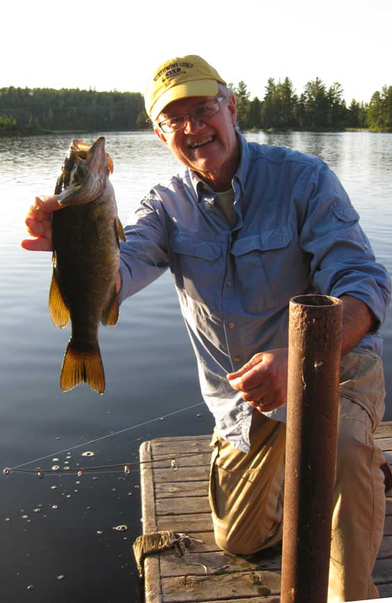 Neil S. with smallmouth bass
