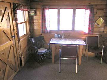 rustic rental cabin on island