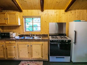 Cabin #2 Kitchen