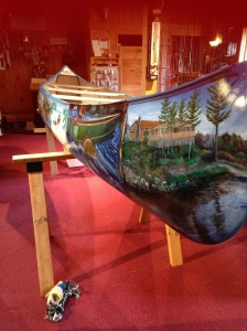 painted canoe of ely