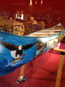 The Painted Canoe of Ely