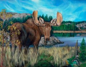 Moose on canvas