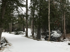 Srping Snow at Northwind Lodge Ely mn
