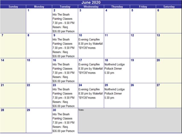 June 2020 Activities