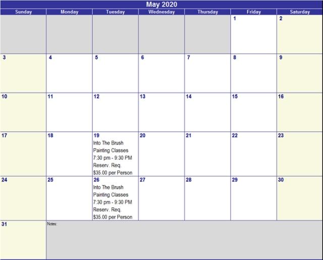 May 2020 Activities