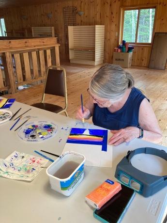 art lessons at Northwind Lodge