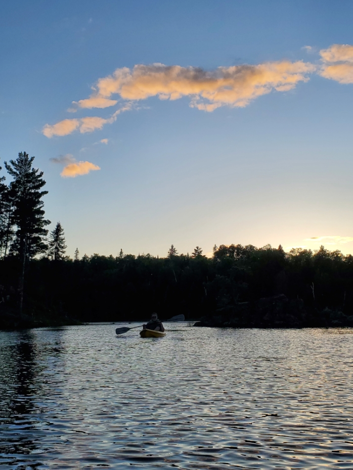 Jasper Lake evening - Northwind Lodge