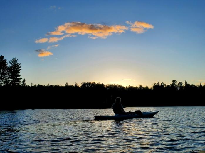 Sundown on Jasper Lake at Northwind Lodge, Ely MN