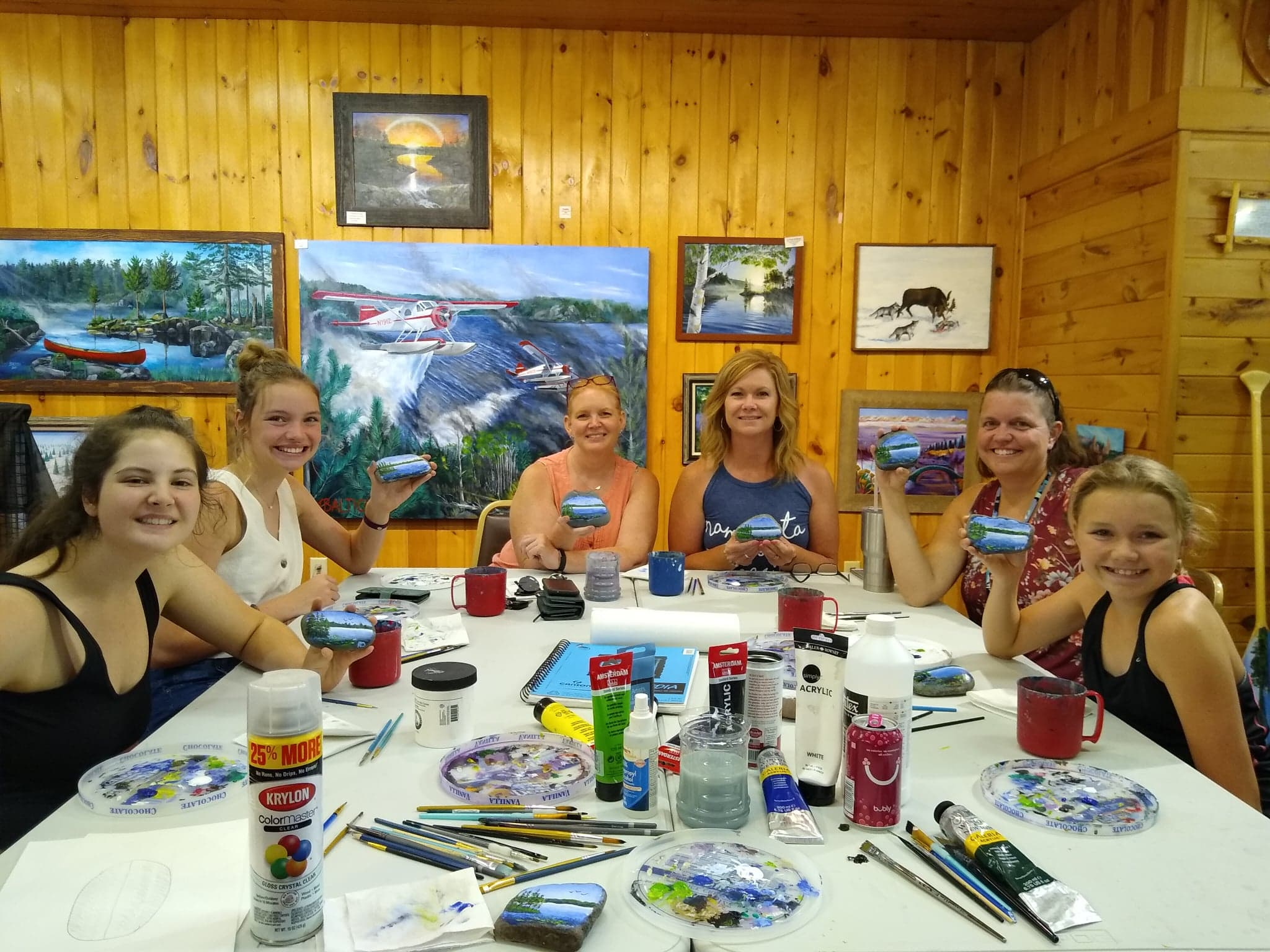 Painting Class at Northwind Lodge