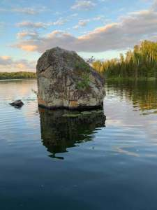 The Rock in the Narrows at Jasper Lake - Northwind Lodge, Ely MN