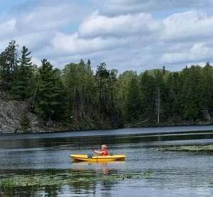 Kayak exploration crew member - Jasper Lake, Northwind Lodge , Ely MN