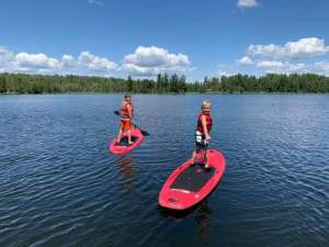 Stand up paddle boards on jasper lake