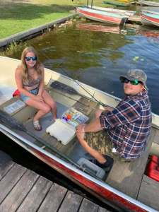 Dad and daughter time on the water